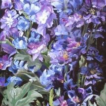 Blue Delphiniums 60x30