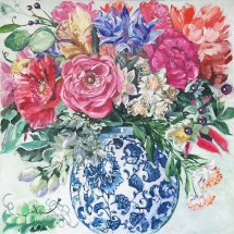 Painted-Bouquet-Blue-and-White-Porcelain-by-Susan-Pepler
