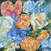 french-provincial-blue-yellow-floral-painting-by-susan-pepler